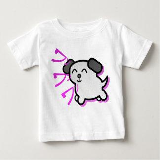 cute anime style dog t-shirt - purple