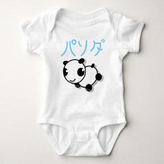 cute anime style panda babies t-shirt - blue