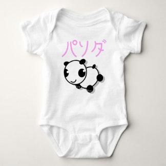 cute anime style panda baby t-shirt - pink