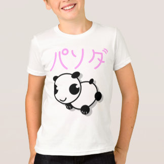 cute anime style panda t-shirt - pink