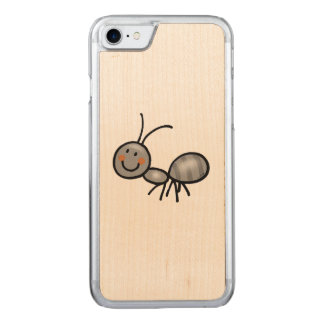 cute ant cartoon carved iPhone 7 case