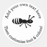 Cute Ant or Termite Funny Pest Control Round Sticker