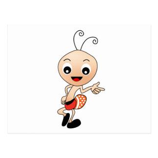 Cute ant postcard