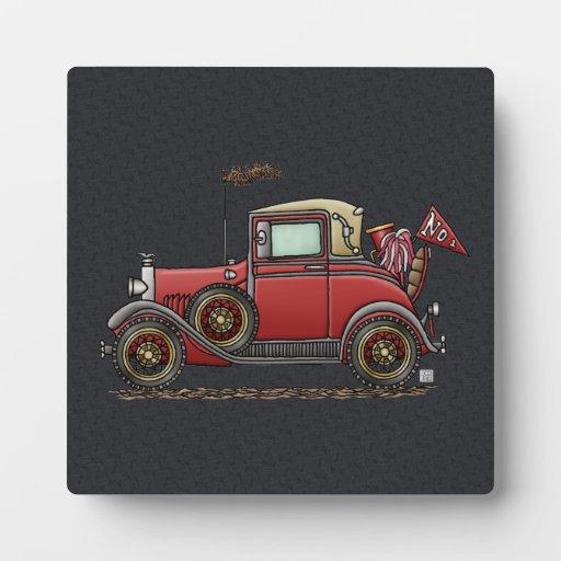 Cute Antique Car Display Plaques