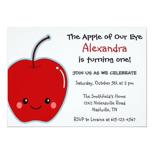 Cute Apple Birthday Card