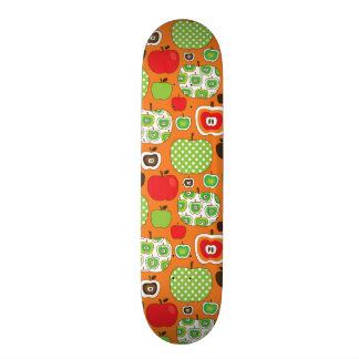 Cute apple illustration pattern 18.1 cm old school skateboard deck