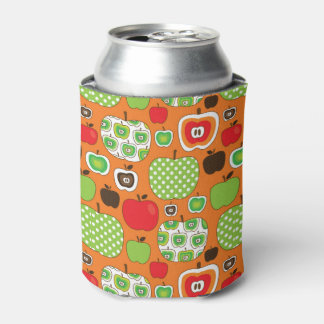 Cute apple illustration pattern can cooler