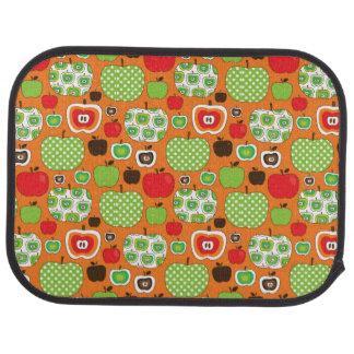 Cute apple illustration pattern car mat
