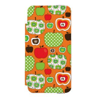 Cute apple illustration pattern incipio watson™ iPhone 5 wallet case
