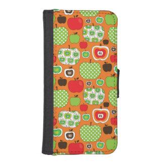 Cute apple illustration pattern iPhone SE/5/5s wallet case