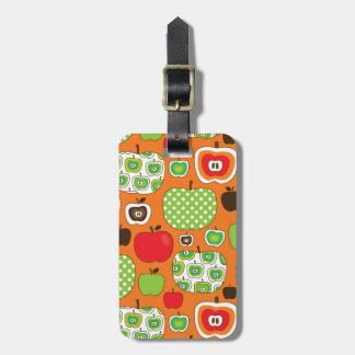 Cute apple illustration pattern luggage tag