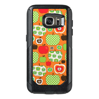 Cute apple illustration pattern OtterBox samsung galaxy s7 case
