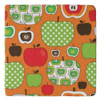 Cute apple illustration pattern trivet