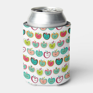 Cute apple pattern can cooler