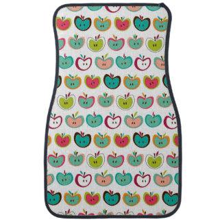 Cute apple pattern car mat