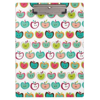 Cute apple pattern clipboard