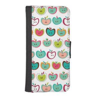 Cute apple pattern iPhone SE/5/5s wallet case