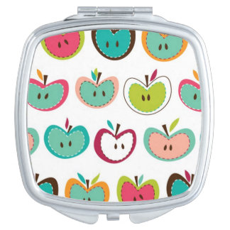 Cute apple pattern mirrors for makeup