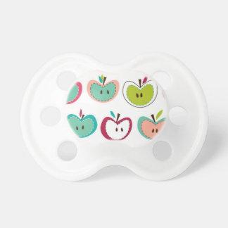 Cute apple pattern pacifiers