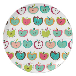 Cute apple pattern party plates