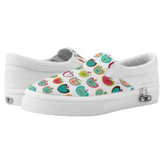 Cute apple pattern slip on shoes