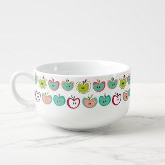 Cute apple pattern soup mug