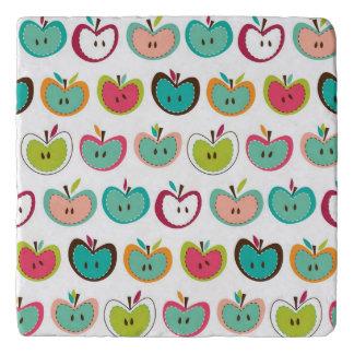 Cute apple pattern trivet