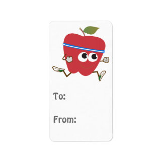 Cute Apple Runner Address Label