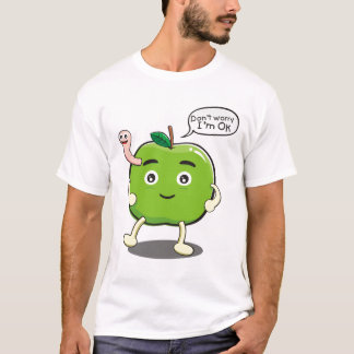 cute Apple With cute worm T-Shirt