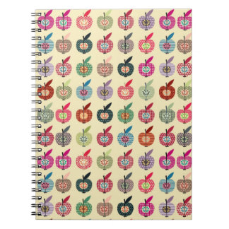 Cute Apples in Retro Style Notebook