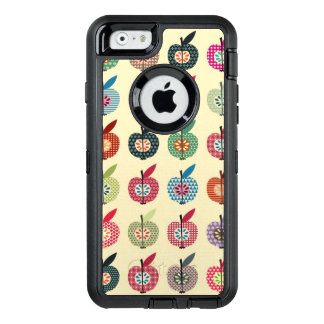 Cute Apples in Retro Style OtterBox Defender iPhone Case