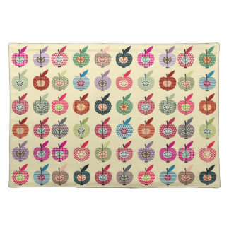 Cute Apples in Retro Style Placemat