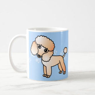 Cute Apricot  Poodle Cartoon Coffee Mug