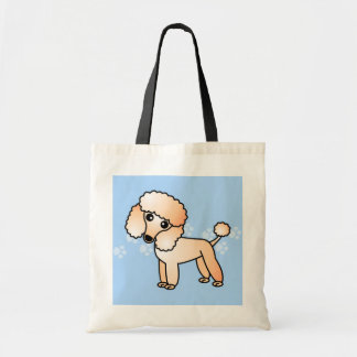 Cute Apricot  Poodle Cartoon Tote Bag