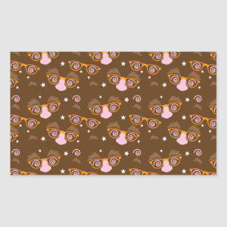 Cute April fools pattern design Rectangular Sticker