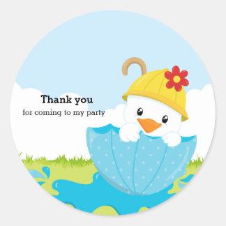 Cute April Showers Classic Round Sticker