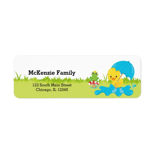 Cute April Showers Return Address Label