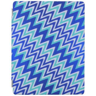 Cute aqua blue zigzag stripes iPad cover