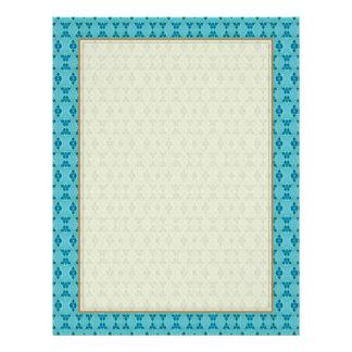 Cute Aqua Pattern 21.5 Cm X 28 Cm Flyer