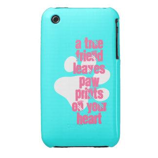 Cute aqua true friend dog quote iPhone 3 cover