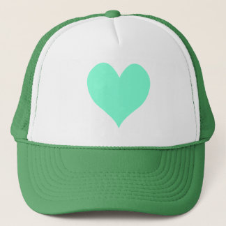 Cute Aquamarine Heart Trucker Hat