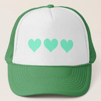 Cute Aquamarine Hearts Trucker Hat
