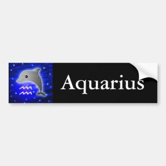 Cute Aquarius Zodiac Bumper Sticker