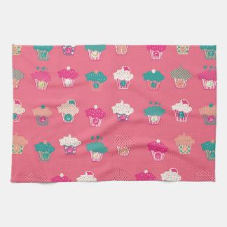 Cute Arabic Letters Cupcakes Tea Towel