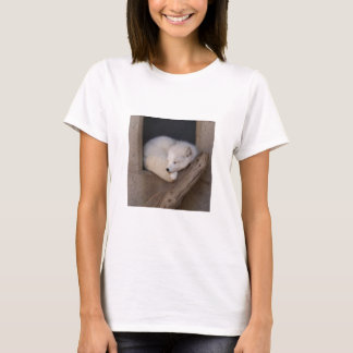 Cute Arctic Fox Sleeping T-Shirt