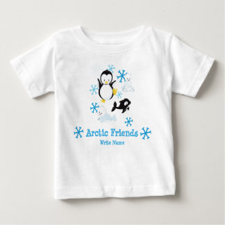 Cute Arctic Friends Penguin baby Design Baby T-Shirt