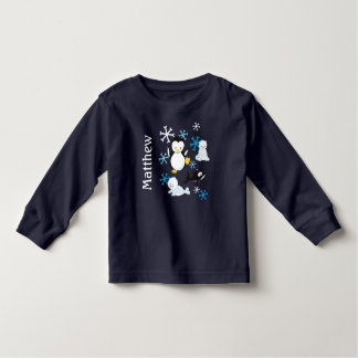Cute Arctic Friends Penguin Whale Baby. Customize. Toddler T-Shirt