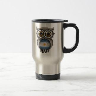 Cute Argentinian Flag Owl Wearing Glasses Mug