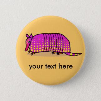 Cute armadillo button