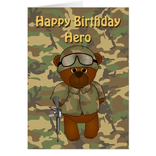 Cute armed forces teddy bear birthday card zazzle cute armed forces teddy bear birthday card bookmarktalkfo Image collections